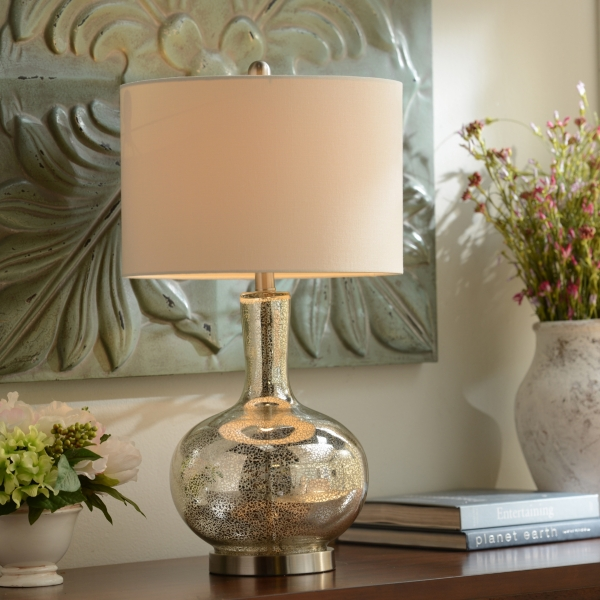 Dynia Silver Mercury Glass Table Lamp ...