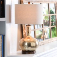 Dynia Gold Crackle Mercury Glass Table Lamp