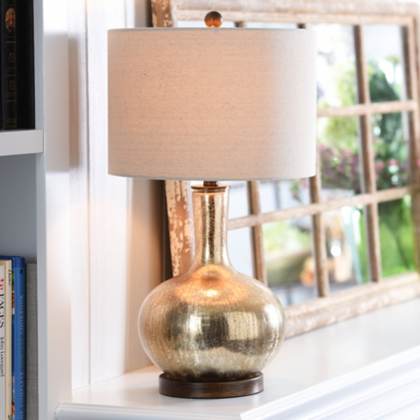 dynia gold crackle mercury glass table lamp - Mercury Glass Table Lamp