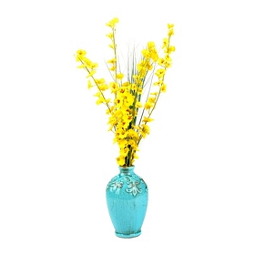 Yellow Dancing Orchid Arrangement