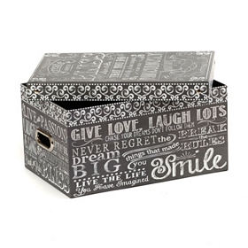 Chalkboard Art Storage Box, Large
