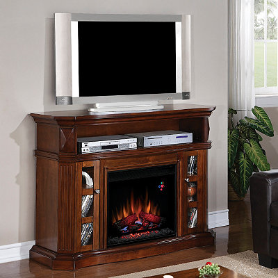 Bellemeade Walnut Fireplace Entertainment Center