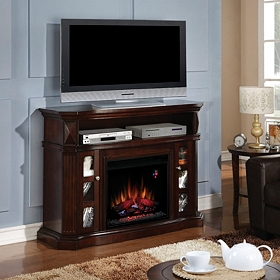 Bellemeade Espresso Fireplace Entertainment Center