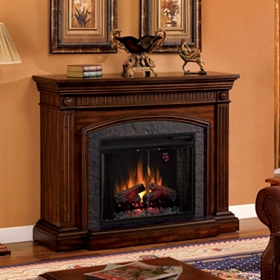 Saranac Cherry Electric Fireplace
