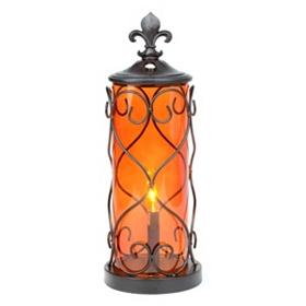 Fleur-de-Lis Cylinder Uplight