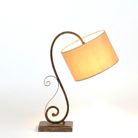 Downbridge Metal Scroll Table Lamp