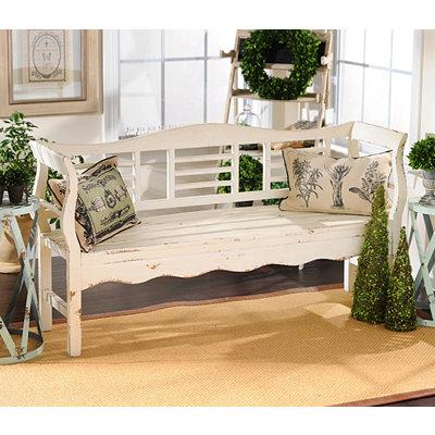 Kirklands Distressed White Wood Bench Customer Reviews