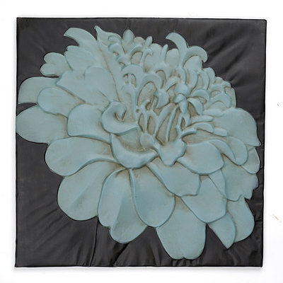 Chrysanthemum Tile Wall Plaque
