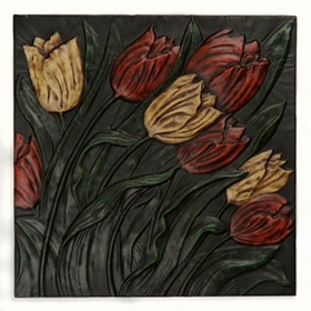 Tulips Tile Wall Plaque