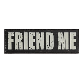 Friend Me Wall Plaque