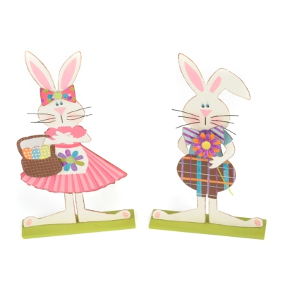 Hippity Hoppity Metal Bunny Couple