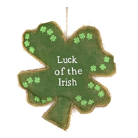Luck Of The Irish Clover Wall Ornament