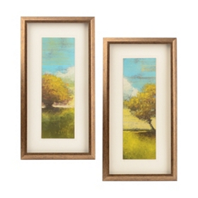 Summer Trees Framed Art, Set of 2