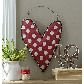 Burlap Heart Wall Hangers