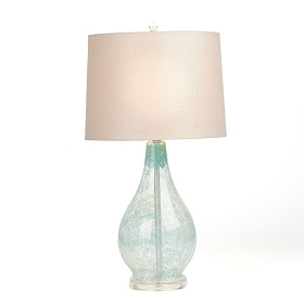 Sandy Blue Glass Table Lamp