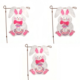 Monogram Easter Bunny Flag