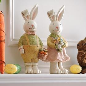 Sugared Bunny Statues