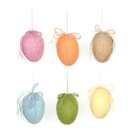 Burlap Easter Egg Wall Ornaments
