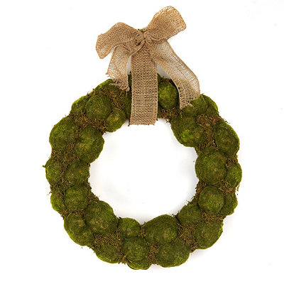 Moss Wreath, 17 in.