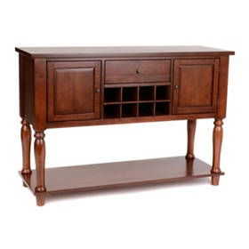 Harwich Wood Cabinet with Wine Rack