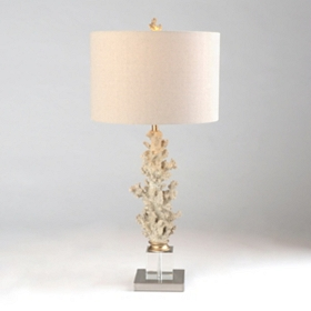 Coral Crystal Table Lamp
