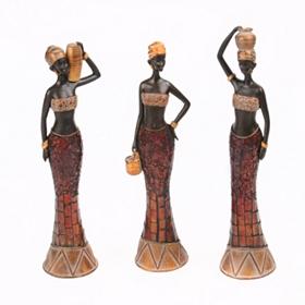 Mosaic Lady Statue