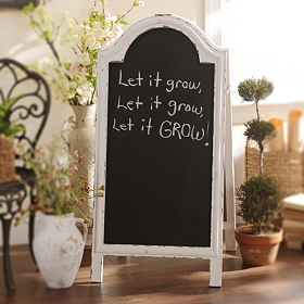 Whitewashed Chalkboard Easel