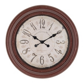 Rustic Red Avenger Wall Clock