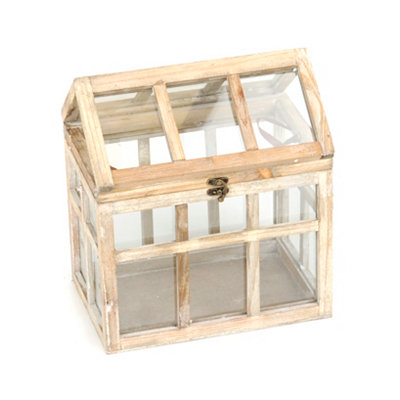 Small Distressed Cream Terrarium