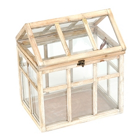 Large Distressed Cream Terrarium