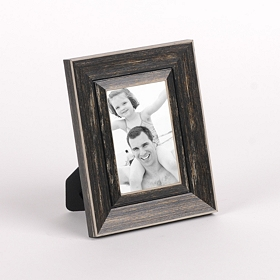 Distressed Black Picture Frame, 4x6