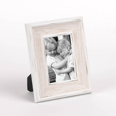Distressed White Picture Frame, 4x6