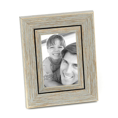 Distressed Blue Picture Frame, 4x6