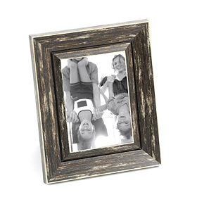 Distressed Black Picture Frame, 5x7