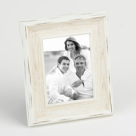 Distressed White Picture Frame, 5x7