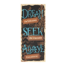 Dream, Seek, Achieve Burlap Wall Plaque