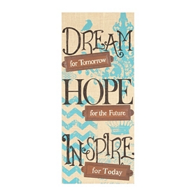 Dream, Hope, Inspire Burlap Wall Plaque
