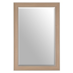Distressed Wood Grain Mirror, 37x55
