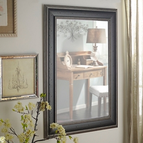 Dark Woodtone Framed Mirror, 33.5x45.5