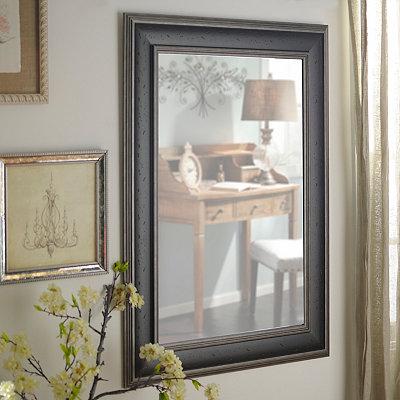 Dark Woodtone Framed Mirror, 33.5x45.5