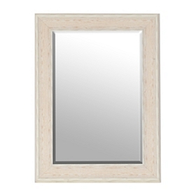 White Driftwood Framed Mirror, 33x45