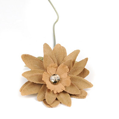 Jeweled Burlap Lotus Stem