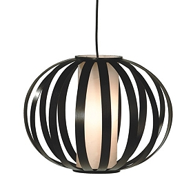 Espresso Rattan Pendant Light