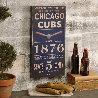 Vintage Cubs Wall Plaque