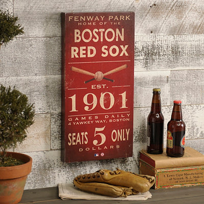 Vintage Red Sox Wall Plaque
