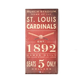 Vintage Cardinals Wall Plaque