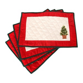 Festive Topiary Placemat, Set of 4