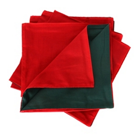 Red and Green Napkins, Set of 4