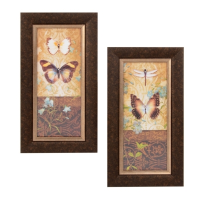 Butterfly Botanical Framed Art Prints
