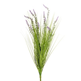 Sylvia Purple Lavender Grass Bush, 26 in.